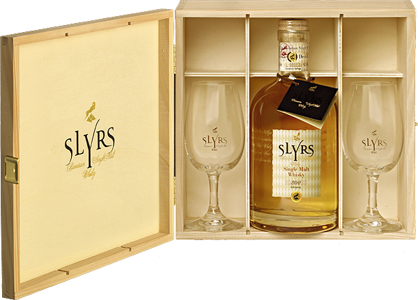 Slyrs Whisky in Holzkassette