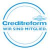Creditreform Mitgliederlogo, Ihr Spezialist für Bonitätsprüfung, Inkasso, Zahlungsfähigkeit